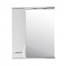 Зеркало-шкаф АСБ-Мебель Альфа 65 L белый