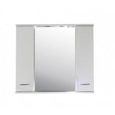 Зеркало-шкаф АСБ-Мебель Альфа 87 белый