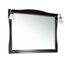 Зеркало ASB-Woodline Модена 105 орех/патина золото