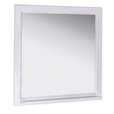 Зеркало ASB-Woodline Бергамо 85 белый/патина серебро
