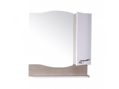 Зеркало-шкаф АСБ-Мебель Терни 70 белый/дуб