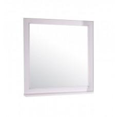 Зеркало ASB-Woodline Гранда 80 белый/патина серебро