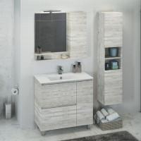 COMFORTY зеркало-шкаф Верона-90 дуб  белый