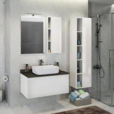 COMFORTY зеркало-шкаф Милан-90 белый