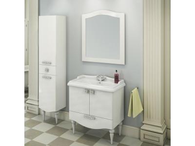 COMFORTY Тумба-умывальник Монако-80-1 белая с раковиной COMFORTY 3380