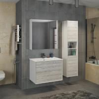 COMFORTY зеркало-шкаф Женева-75 дуб белый