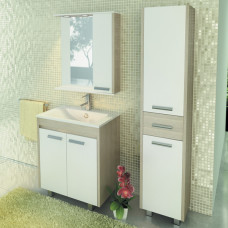 COMFORTY зеркало-шкаф Тулуза-75 белый
