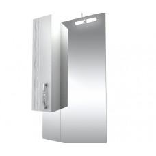 Triton Зеркало Кристи-60 ,бел.с подсв.,шкаф слева, удлененное