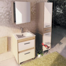 COMFORTY зеркало-шкаф Тулуза-60 сосна лоредо