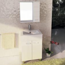 COMFORTY Тумба-умывальник Модена-60 белый с раковиной Quadro 60