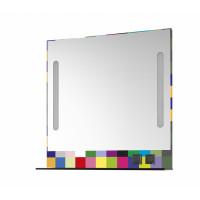 TOWER 100-зеркало с LED-освещением и розеткой, белый глянец