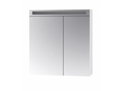 MAX 80-зеркальный шкаф с LED-освещением, 2Д,(зеркало 50/30) белый