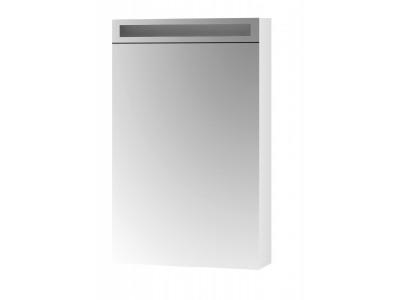 AIR 50-зеркальный шкаф с LED-освещением и розеткой , Л/П, белый