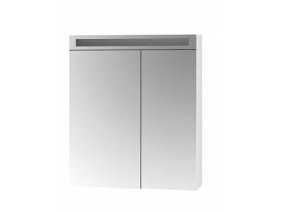 AIR 70-зеркальный шкаф с LED-освещением и розеткой, 2Д, (зеркало 40/30), белый