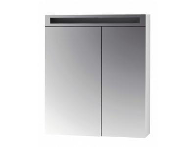 MAX 70-зеркальный шкаф с LED-освещением, 2Д,(зеркало 40/30) белый