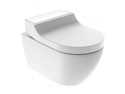 Комплект унитаз и крышка-биде GEBERIT AquaClean Tuma Comfort 146.294.SI.1 (панель белое стекло)
