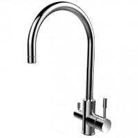 KF10STJi05 Смеситель для кухни из нержавеющей стали с каналом для фильтрованной воды Kitchen F Iddis