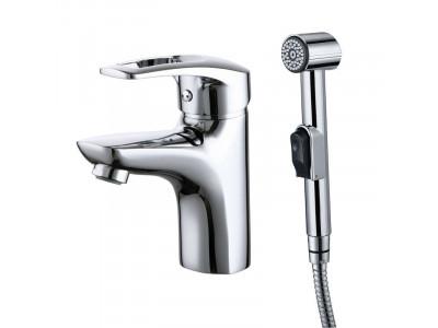 CRPSB00i08 Смеситель для умывальника с гигиеническим душем Carlow Plus