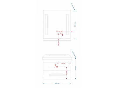 Мебель для ванной Misty Venezia 120 Л-Внц01120-023Пр