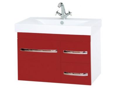 Мебель для ванной Misty Эмилия -75 Тумба подвесная красная П-Эми01075-041По