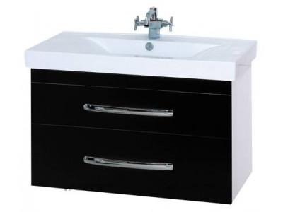 Мебель для ванной Misty Эмилия -90 Тумба подвесная черная П-Эми01090-021По