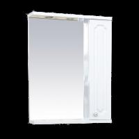 Misty Александра - 55 зеркало-шкаф прав.(свет) белый мет П-Але04055-352СвП