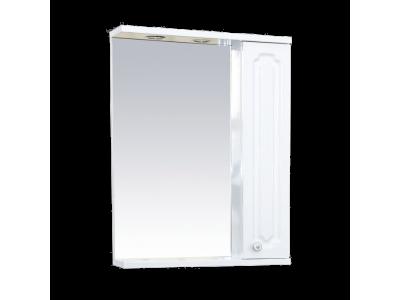 Мебель для ванной Misty Александра - 55 зеркало-шкаф прав.(свет) белый мет П-Але04055-352СвП