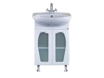 Мебель для ванной Misty Антик -55 Тумба прямая (стекло) Э-Ант01055-01Пр10
