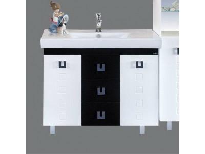 Мебель для ванной Misty Эллада 100 белая/черная П-Элл01100-2313Я