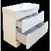 Мебель для ванной Misty Элвис - 105 Тумба напольная с 2 ящ. белая эмаль П-Элв01105-0112Я