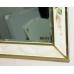 Мебель для ванной Misty Анжелика - 100 Зеркало бежевое с узором  со светильниками Л-Анж02100-541Св