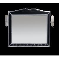 Зеркало Misty Анжелика - 100 Зеркало черн. сусальн. серебро со светильниками Л-Анж02100-421Св