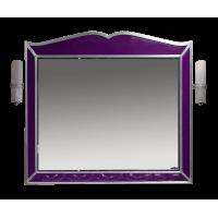 Misty Анжелика - 100 Зеркало сиреневое  сусальное серебро со светильниками Л-Анж02100-411Св