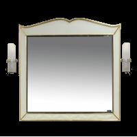 Зеркало Misty Анжелика - 80 Зеркало бежевое сусальное золото  со светильниками Л-Анж02080-381Св