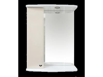 Мебель для ванной Misty АСТРА-50 зеркало-шкаф лев.(свет) бежевая Э-Аст04050-03СвЛ