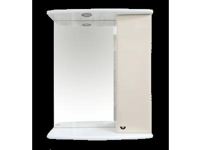 Мебель для ванной Misty АСТРА-50 зеркало-шкаф прав.(свет) бежевая Э-Аст04050-03СвУг