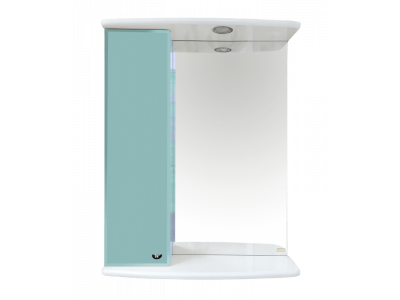 Мебель для ванной Misty АСТРА-50 зеркало-шкаф лев.(свет) голубая Э-Аст04050-06СвЛ