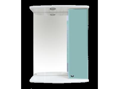 Мебель для ванной Misty Астра 50 зеркало-шкаф  R свет голубой Э-Аст04050-06СвП