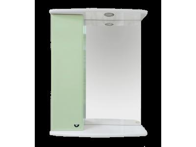 Мебель для ванной Misty Астра 50 зеркало-шкаф L свет салатовый Э-Аст04050-07СвЛ