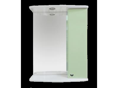 Мебель для ванной Misty АСТРА-50 зеркало-шкаф лев.(свет) салатовая Э-Аст04050-07СвП