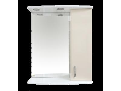 Мебель для ванной Misty Астра 60 зеркало-шкаф R свет бежевый Э-Аст04060-03СвП