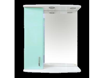 Мебель для ванной Misty Астра 60 зеркало-шкаф L свет голубой Э-Аст04060-06СвЛ