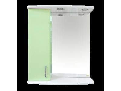 Мебель для ванной Misty Астра 60 зеркало-шкаф L свет салатовый Э-Аст04060-07СвЛ