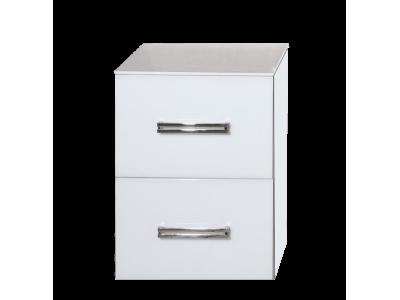 Мебель для ванной Misty Атланта 38 тумба с 2-мя ящиками белый жасмин Л-Атл09038-01П2Я