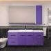 Мебель для ванной Misty Атланта 38 тумба с 2-мя ящиками сиреневая Л-Атл09038-15П2Я