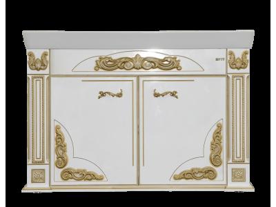 Мебель для ванной Misty Барокко 120 Тумба прямая бежевая патина Л-Бар01120-033Пр