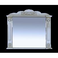 Зеркало Misty Барокко 100 Зеркало белое патина Л-Бар02100-013