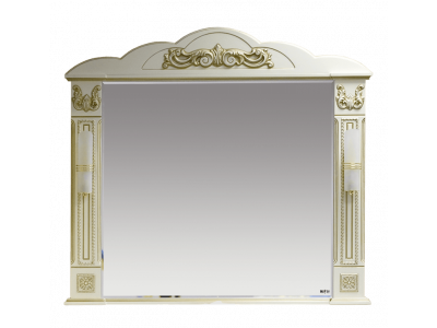 Мебель для ванной Misty Барокко 120 Зеркало бежевое патина Л-Бар02120-033
