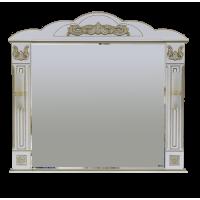 Зеркало Misty Барокко 120 зеркало белое патина Л-Бар02120-013