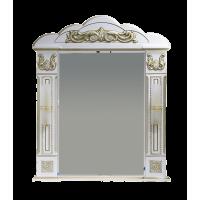 Зеркало Misty Барокко 80 зеркало белое патина Л-Бар02080-013